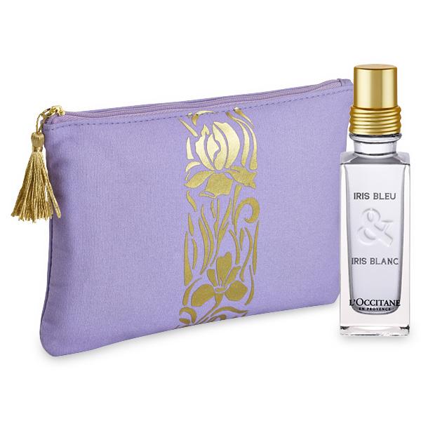 L'Occitane Trousse de Voyage : Duo Parfum Voyage Iris Bleu Iris Blanc